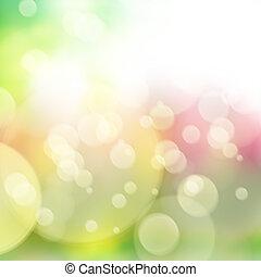 defocused bokeh background - spring multicolored defocused...