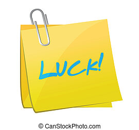 luck and post message. illustration design