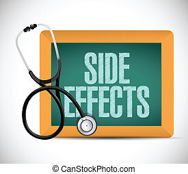 medical side effect sign illustration design over a white...