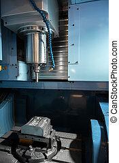 Modern drill machine in a factory