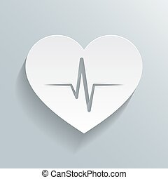 Heart beat rate icon, fitness and exercises concept vector...