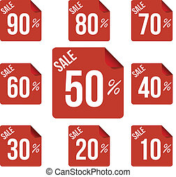 Sale percent sticker price tag flat design