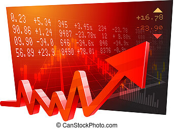 Stock Market Data - Illustration - This illustration is AI10...