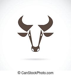 vecteur, image, vache, tête