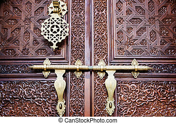 Islamic style door - Islamic carved door with beautiful...
