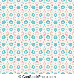 Pastel loving wedding vector seamless pattern (tiling). Fond...