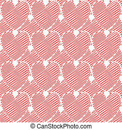Design seamless colorful doodle heart pattern. Valentine's Day background. Vector art