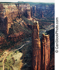 Canyon de Chelly National Monument, Arizona. View down main...