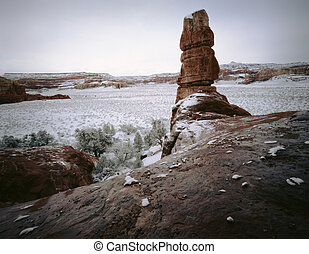 Canyonlands National Park Spring Snowstorm, Moab, Utah Great...