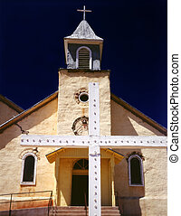 Southwest New Mexico Catholic Mission Church and Cross....