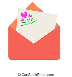 Envelope with the note