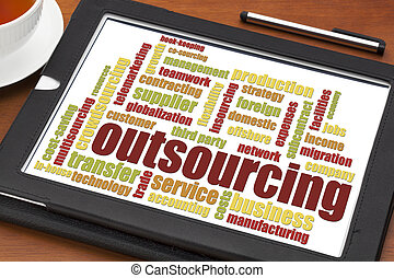 outsourcing word cloud