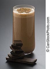 refreshing chocolate shake with chocolate Birutes