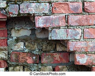 Detailed brick wall dark corner background - texture set 7