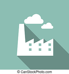 Eco Flat Icon - Ecology Flat Icon with shadow. Vector EPS...