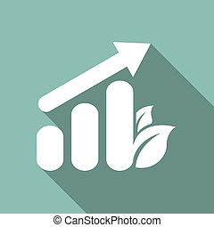 Eco Flat Icon - Ecology Flat Icon with shadow Vector EPS 10...