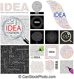 Idea. Concept illustration. - Idea. Word cloud illustration....