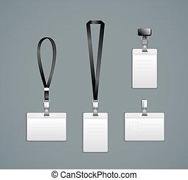 Lanyard, retractor end badge templates Vector Illustration