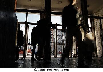 Underground station entrance - Undeground station entrance...
