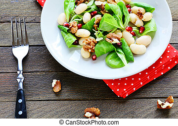 nutritious and healthy salad with beans