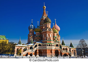 Saint Basil Cathedral on Red Square - Architectural details...