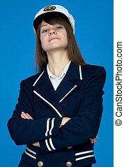 Portrait of the woman - captain - Portrait of the woman -...