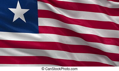 Flag of Liberia - seamless loop - Flag of Liberia gently...