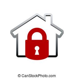 House lock icon