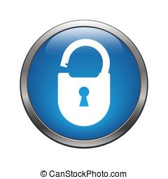 Unlock icon - Unlock crack icon