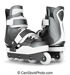 Roller skates isolated on white background
