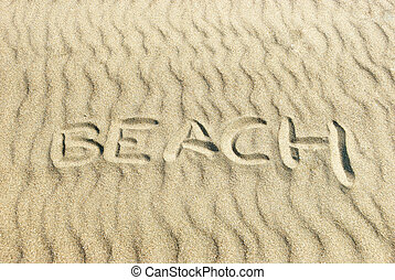 Beach Written in Sand