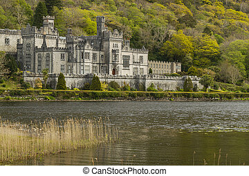 Kylemore Abbey in Connemara, County Galway, Ireland - Full...