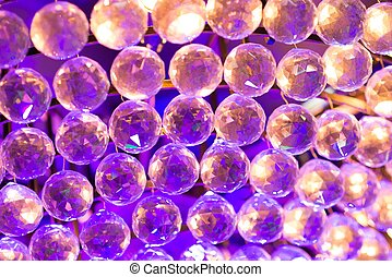 Colourful crystal balls background