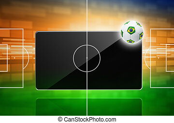 Soccer online, brazil soccer - Tablet computer, soccer ball,...