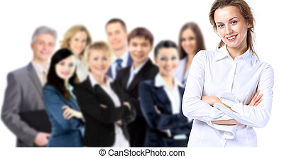 Businesslady with positive look - Business lady with...