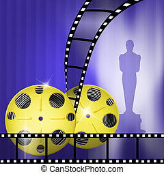 Oscar awards - illustration of Oscar awards