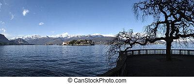 maggiore, lago, paesaggio, Stresa, -, italia