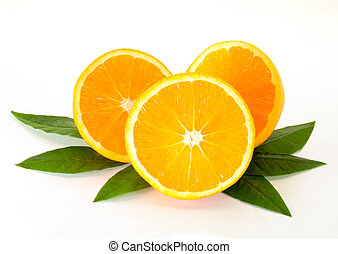 orange - a picture of sliced and arranged oranges