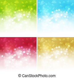 Holiday bokeh. Abstract Christmas background. EPS 10