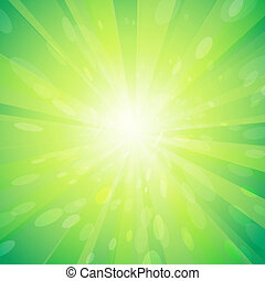 Green light background - Vector illustration Green light...