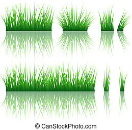 Reflected vector grass pattern