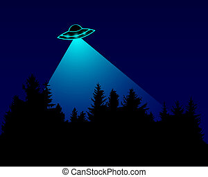 UFO over the forest