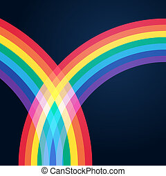 Bright rainbow illustration with space for your business message