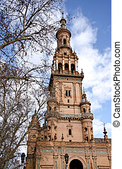 palacio, plaza, espana, sevilla