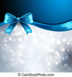 Holiday gift cards with blue ribbon - Holiday gift cards...