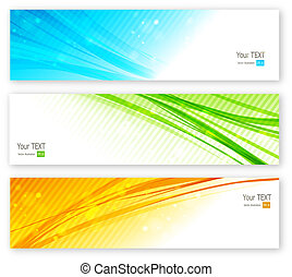 Abstract color lines banner