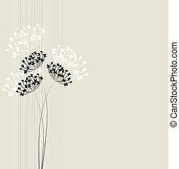 Flower vector background. Simple and clean design template.