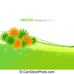 Vector illustration Abstract background with summer flower
