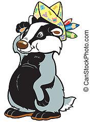 cartoon badger artist - cartoon badger ,children...