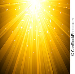 Abstract magic gold light background - Vector illustration...